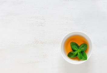 Mint flavored tea background