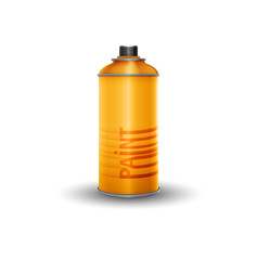 Blank spray paint, vector illustration