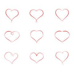 Design elements for Valentine day.