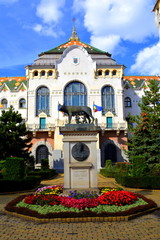 City Hall and Mother Woolf. Targu Mures is a nice romanian town in the center of Transylvania.