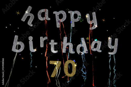Happy Birthday 70 Years Old Fun Party Invitation Or Banner Image For Those That Are