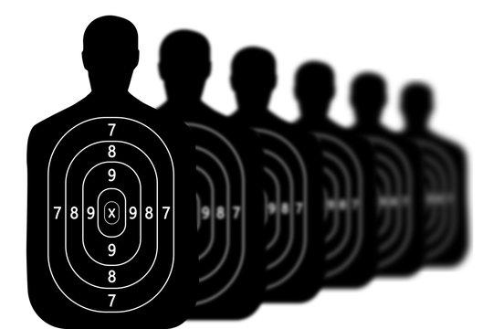 target shooting range background