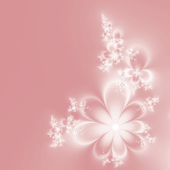 Abstract light background with beautiful soft pink flowers