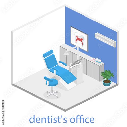 isometric dentist office during reception patient fichier vectoriel libre de droits sur la. Black Bedroom Furniture Sets. Home Design Ideas