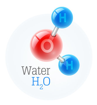 Chemistry model of molecule water scientific elements