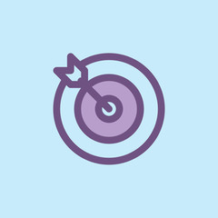 Archery Icon Illustration Isolated Vector Sign Symbol