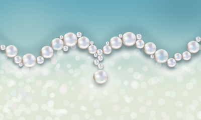 Wedding pearl background loops blue with shimmering lights