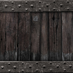 medieval gate wood background