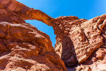 Scenic landscape arch in Arches National Park