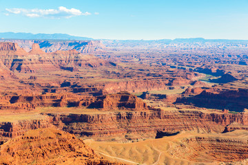 Panoramic view of canyon at Dead Horse State Park