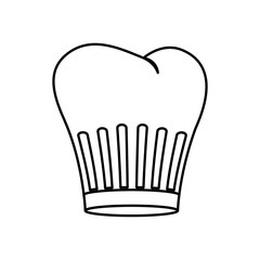 contour of chefs hat with lines vector illustration