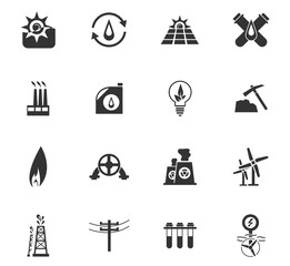 fuel icon set