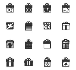 gifts icon set