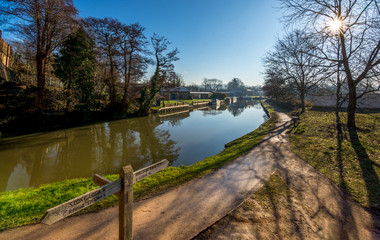 River Wey in Guildford next to the university of Surrey campus