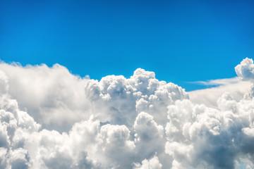 Aluminium Prints Heaven Blue clouds and sky