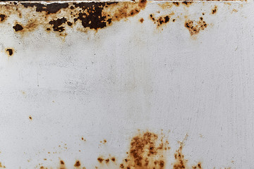 Rusted and corroded on metal white background. Wall mural