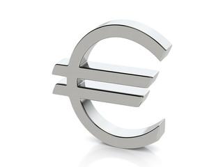 Metallic euro symbol