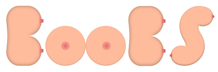 Boobs logo vector