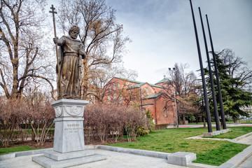 King Samuil's monument and Saint Sofia church in Sofia, Bulgaria