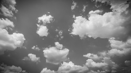 Blue Sky And Clouds with black and white theme