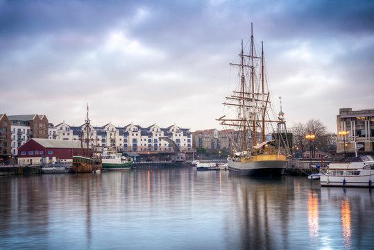 Ships docked near Bristol's port