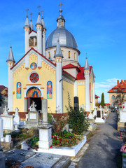 Famous Christian Orthodox church of the Saint Paraschiva, in Brasov city, Romania