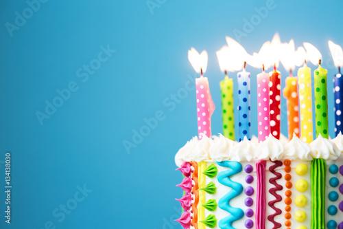 Colorful Birthday Candles Stockfotos Und Lizenzfreie Bilder Auf