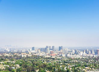 View of Los Angeles city
