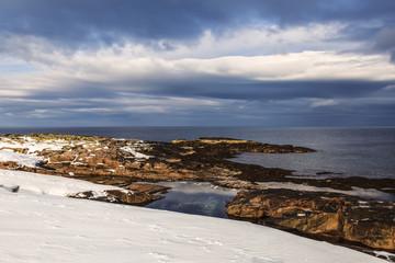 The coast of the Barents sea, Arctic ocean, Russia