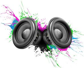 Music speakers colorful design