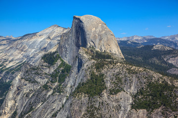 Half Dome Mountain. Yosemite national park. California.