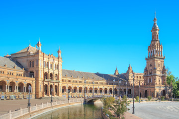Spanish Square (Plaza de Espana) in Sevilla
