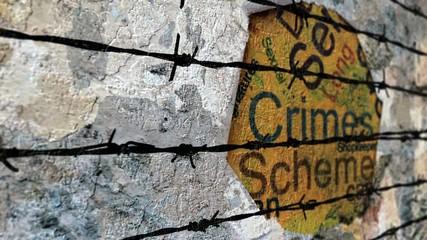 Wall Mural - Crimes barbwire concept