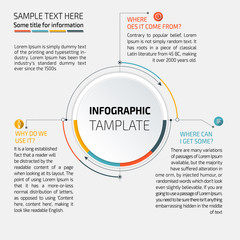 Vector Infographic report template