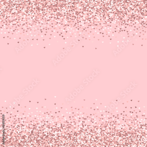 quotpink golden glitter made of hearts borders on palepink