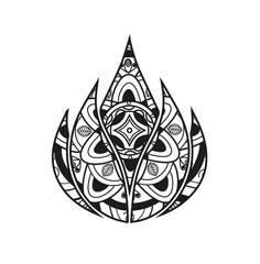 Vector illustration of a lotus flower mandala for coloring book, fiore loto mandala vettoriale da colorare