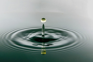 water drop and spalsh