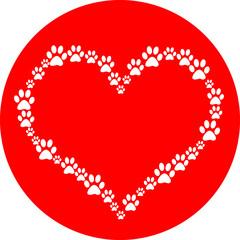 Dog Paw Heart
