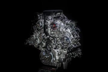 automotive diesel engine Duramax 6.6l v8 turbo Wall mural