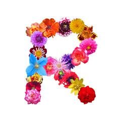 Flower Letter R