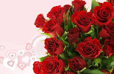 background -  Valentine rose bouquet