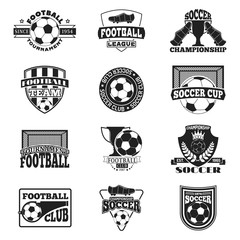 Soccer sign vector set.