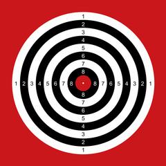 Practice Shooting Target Bulls Eye