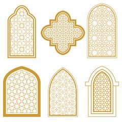 Set of islamic window