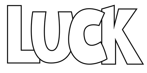 Luck Coloring Page