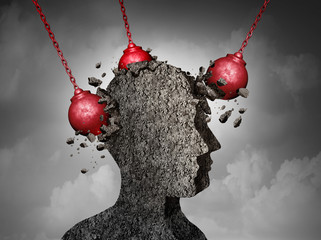 Painful Headache concept