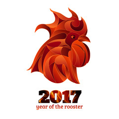 Fire rooster, chinese new year vector illustration