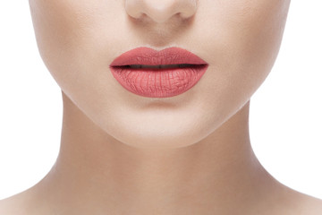 woman natural lips