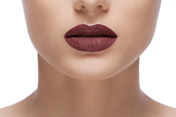woman brown lips