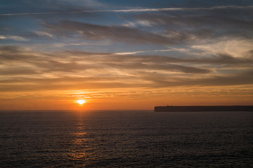 Portugal - Sunset, ocean and cliffs